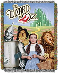 Wizard of Oz, Wizard of Oz Group 48-Inch-by-60-Inch Acrylic Tapestry Throw by The Northwest Company