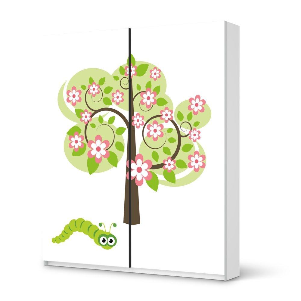 Folie IKEA Pax Schrank 236 cm Höhe – Schiebetür / Design Aufkleber Blooming Tree / Dekorationselement günstig