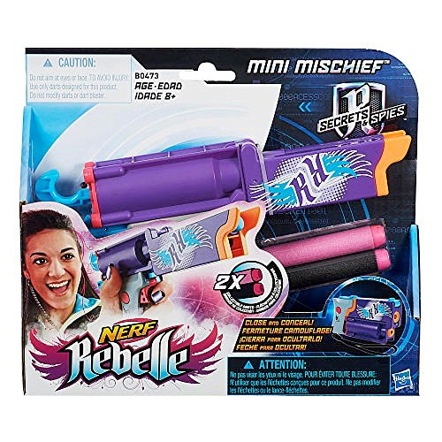 Nerf Rebelle Secrets & Spies Mini Mischief Blaster (Mini Nerf compare prices)