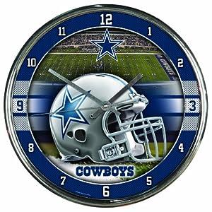 NFL Dallas Cowboys Chrome Clock by WinCraft