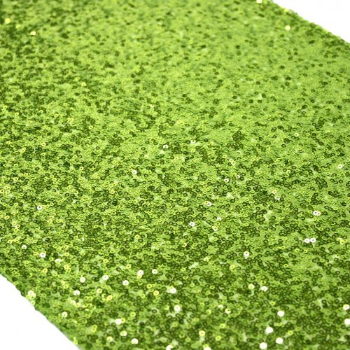 Koyal Sequin Table Runner, 13 by 108-Inch, Lime Green