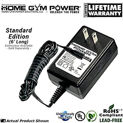 """Home Gym Power® Elliptical & Stationary Bike Exercise Fitness Equipment (9V Models) """"Wall Plug"""" AC Adapter / Power Cord - 337717"""