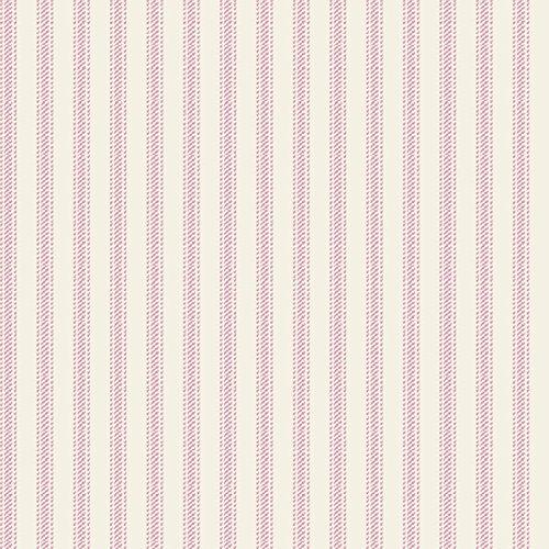 "Nursery Rhyme Toile 43/44"" Wide 100% Cotton D/R-Nursery Rhyme Ticking Stripe-Pink front-73222"