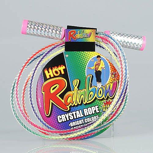 Rainbow Crystal Jump Rope Lazer Handles 7 Foot Long