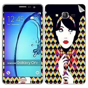 Theskinmantra Blue eye girl Samsung Galaxy On7 mobile skin