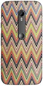 Snoogg big waves blue light 2519 Hard Back Case Cover Shield For Motorola G 3rd generation (Moto G3)
