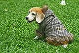 Doggy Dolly W259 Shinori Hundejacke mit Kapuze und Kunstfell, braun, Wintermantel/Winterjacke, Größe : XS -