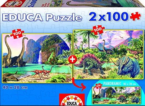 Educa Borras Dino World Puzzle (2x100 Pieces)