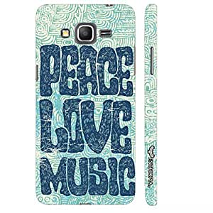 Samsung Galaxy J2 Peace Love Grunge designer mobile hard shell case by Enthopia