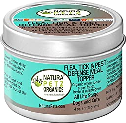 Natura Petz Organics Flea, Tick & Pest Defense Meal Topper for Dogs and Cats, 4 oz