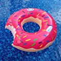 """MAGTIMES 50"""" Gigantic Donut Pool Inflatable Floats pool toys Swimming Float For Adult Pool Floats inflatable donut Swim Ring Summer Water Toy (Strawberry Frosted with Sprinkles)"""