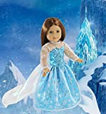 Elsa Princess Doll Clothes for American Girl Dolls: Stunning Snowflake Sparkle Dress By Dress Along Dolly