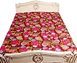 Kantha Stitch Quilt Floral Print Single Bedspread & Bed Cover Bohemian Bedding Kantha Maroon 60x90 Inches