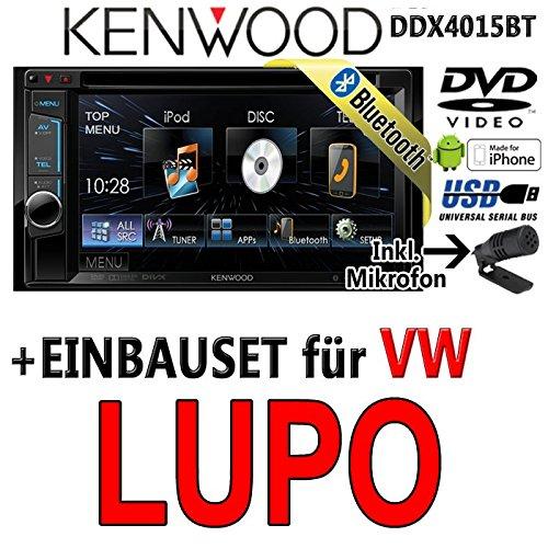 Volkswagen lupo dDX4015BT-kenwood autoradio multimédia 2 dIN avec kit de montage