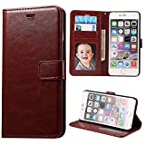 iPhone 6S Plus Case,Next-shine[Layered Dandy][Brown] - [Card Slot][Flip][Slim Fit][Wallet] - For Apple iPhone 6 Plus and iPhone 6S Plus 5.5