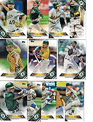 Oakland Athletics / Complete 2016 Topps Series 1 Baseball Team Set. FREE 2015 Topps Athletics Team Set WITH PURCHASE!