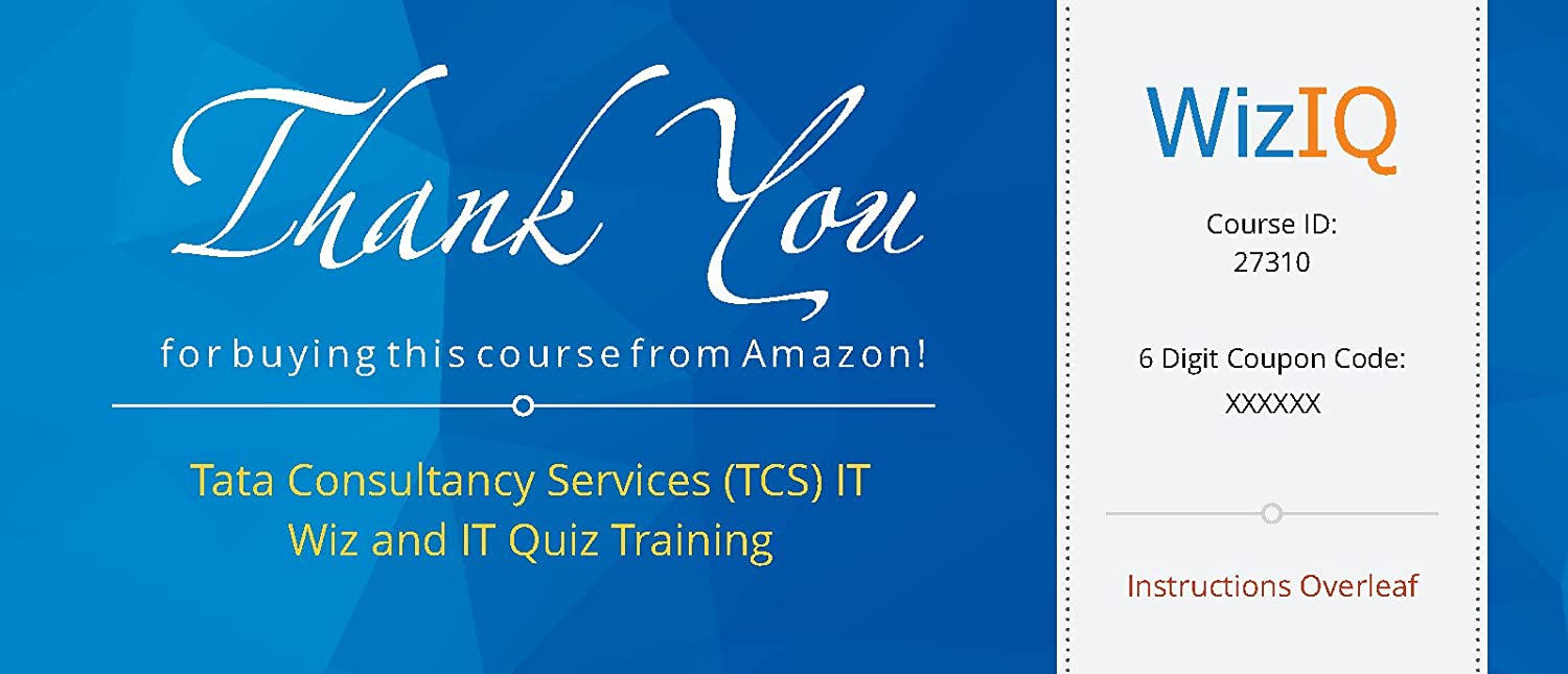tata consultancy services tcs it wiz and it quiz training tata consultancy services tcs it wiz and it quiz training voucher in software