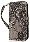 myLife Black Flower Lace {Classic Fashion Design} Faux Leather (Card
