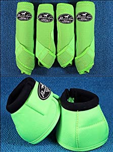 Lime Medium Professional Choice Sports Medicine Horse Boots Bell Ventech Elite by HILASON