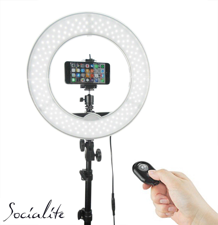 "Ring Light Stand Ebay: 12"" SOCIALITE LED Video Ring Light Kit Incl Stand, IPhone"