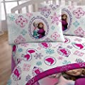 3pc Disney Frozen Twin Bed Sheet Set Anna and Elsa Snowflakes Bedding Accessories