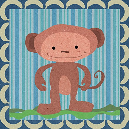 Green Leaf Art Bananas for Monkey Canvas Art
