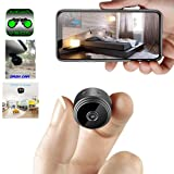 Mini Spy Camera WiFi Hidden Camera ClickCam Wireless HD 1080P Indoor Home Small Spy Cam Security Camera/Nanny Cam Built-in Battery with Motion Detection/Night Vision for iPhone/Android/Tablet (Tamaño: Bluetooth Headphones-2_modelEar277)