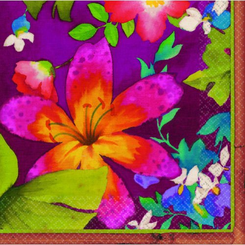 Jungle Floral Lunch Napkins 16ct - 1