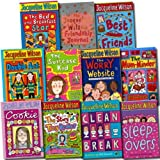 Jacqueline Wilson Jacqueline Wilson Collection Nick Sharrat 11 Books Set (The Story of Tracy Beaker, Clean Break, Double Act, Best Friends, Sleepovers, The Suitcase Kid, The Mum-Minder, The Worry Website, The Bed and Breakfast Star, Cookie, etc)