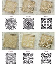 Crystal Square Decoden Stamp – 6 Pcs…