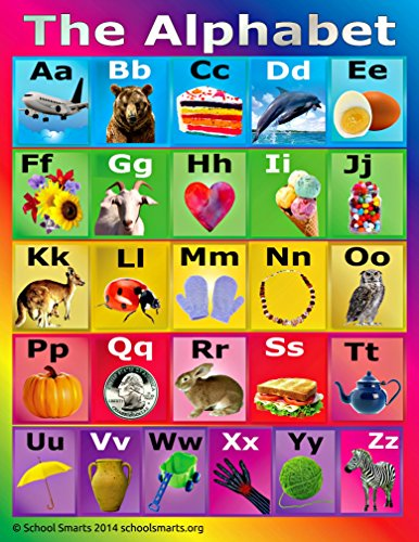 ABC Alphabet Chart by School Smarts ?Durable Material Rolled and SEALED in Plastic Poster Sleeve for Protection. Discounts are in the special offers section of the page. (Days In School Chart compare prices)