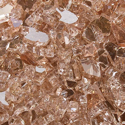 High Luster, Reflective Tempered Fire Glass in Neutrino Pink, 1/4