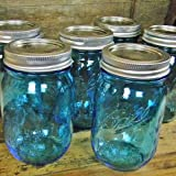 Mason Jar Pint, Limited Edition Ball Heritage Collection, BLUE, 6 PACK