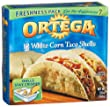 Ortega White Corn Taco Shells, 12-Count, 5.8-Ounce Boxes (Pack of 12)