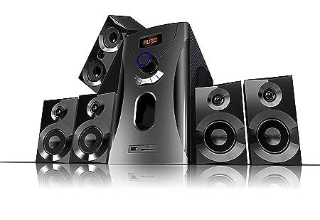 Auvisio - Système audio home cinema Surround 5.1 avec radio / MP3 - Noir