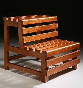 CAIJUN Sgabello in legno impermeabile Scala di casa bagnarsi multifunzione Doppio piede , 46 * 42cm Sgabello Legno