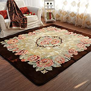 ustide floral teatable mat carpet for living