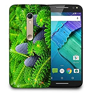 Snoogg Black Fruit Printed Protective Phone Back Case Cover For Motorola X Style
