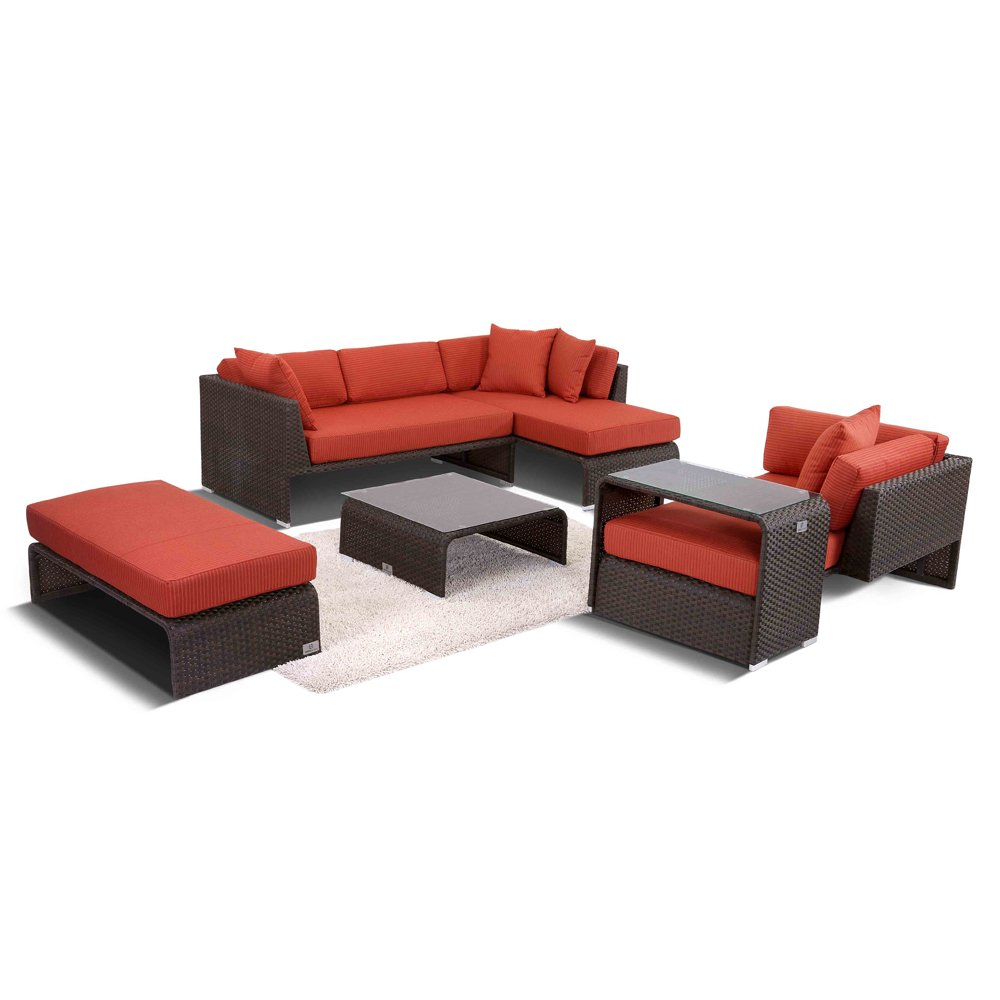 Nikkigarden Sofa Set Barcelona 6-string braun