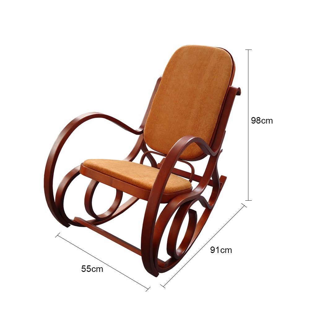 MYHOME FURNITURE Antique Relax Lounge Chair Meeting Chair Home Office Furniture (Antique Rocking Chair) 3