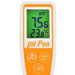 Ultra-Long Premium pH Meter with Spear Electrode for Food, Water, Soil .etc, Waterproof, Dual Display, ATC, One-Touch Calibration, Data Hold, Sleep Mode AZ8694