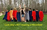 throwbee Blanket-Poncho Wearable Throw Coat for Indoors or Outdoors-Men, Women & Kids, Red