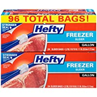 96 Count Hefty Slider Freezer Bag