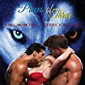 Pieces of Three Audiobook by Kim Carmichael Narrated by Derrick McClain