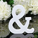 Totoo Decorative Wood Letters, Hanging Wall 26 Letters Wooden Alphabet Wall Letter for Children Baby Name Girls Bedroom Wedding Brithday Party Home Decor-Letters (&)