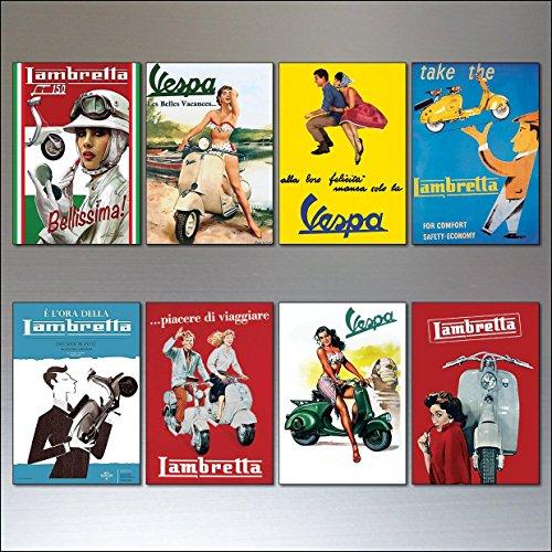 vintage-italian-scooter-vespa-lambretta-motorbike-adverts-set-of-8-fridge-magnets