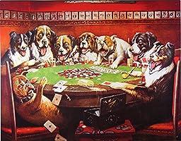 Dogs Playing Poker Metal Tin Sign
