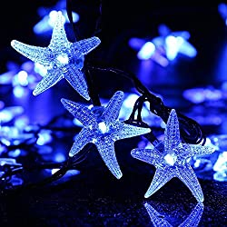 LUCKLED Original Starfish Solar String Lights, 20ft 30 LED...