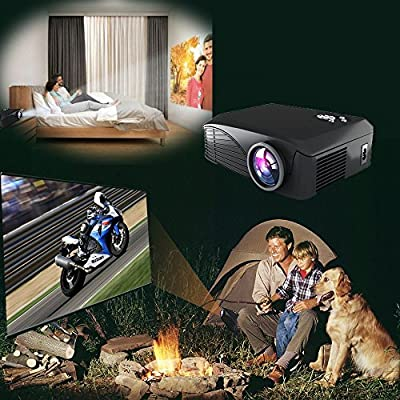 Deeplee Full Color 130 Entertainment Home Cinema Theater Multimedia Portable Mini LCD LED Pico Projector 1000...