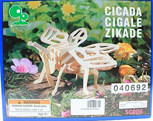Cicada Balsa Wood 3D Insect Puzzle - 1